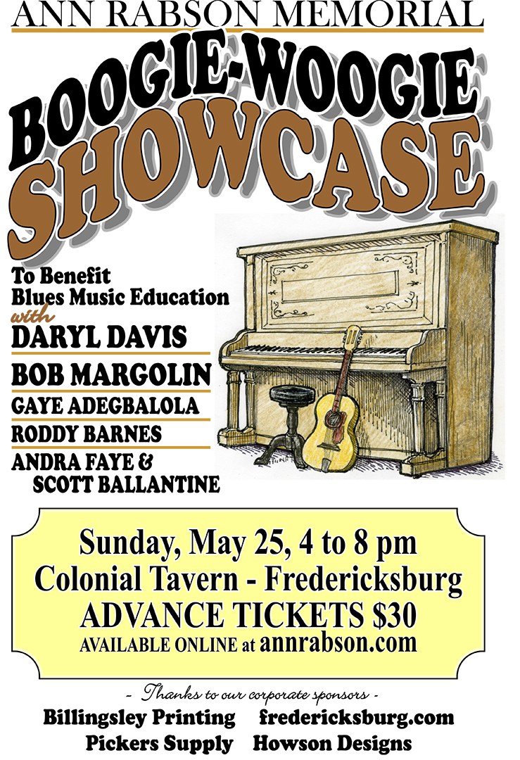 Ann Rabson Memorial Boogie-Woogie Showcase.